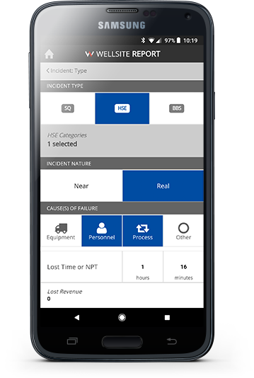 Mobile app allows fast, easy reporting to be submitted directly from the field