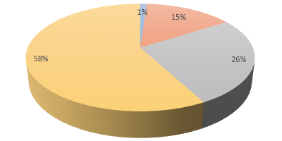 Pie graph of incidents